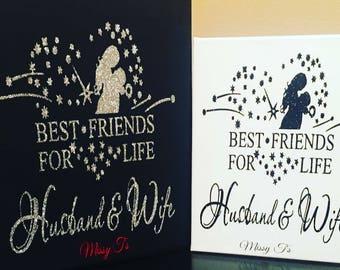 "Custom Canvas ""Best Friends Husband & Wife"""
