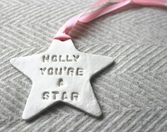 Personalised star keepsake teacher birthday christmas