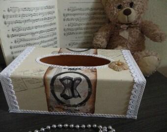 """Vintage tissue box """"Mode de Paris"""""""