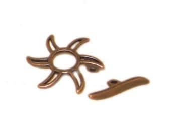 20mm Copper Toggle Clasp