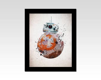 Star Wars inspired BB8 abstract print