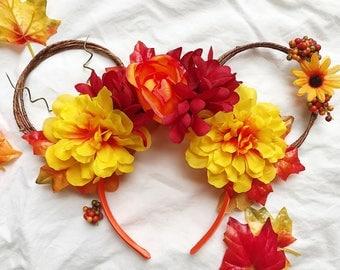 Fall Mickey Ears, Minnie Ears, Thanksgiving Mickey Ears, Halloween Mickey Ears