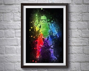 Stormtrooper Abstract A3 A4 Poster - Star Wars Poster - Printed Movie Poster - Boys Room Decor - Star Wars Print