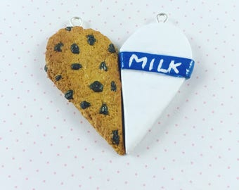 Cookies and Milk Polymer Clay BFF Charms