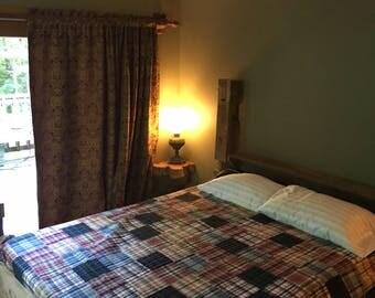 antique barnwood solid oak 4 post Bed