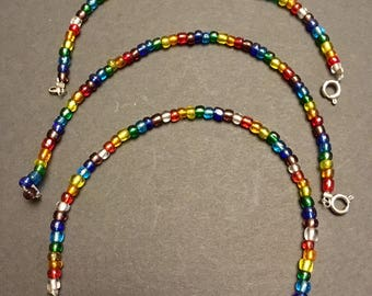 Rainbow Beaded Friendship Bracelets