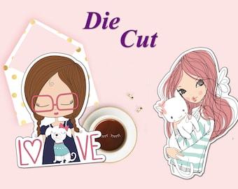 I love my Cat Die Cut, I love my Dog Die Cut, I love my Pet Die Cut, Die Cut For Planners, Scrapbook Accessory, Party Paper Decor