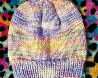 Baby brights ombre knit baby beanie
