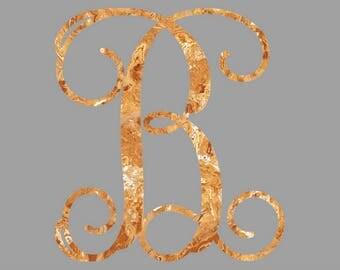 Stone Texture Monogram B Digital Image