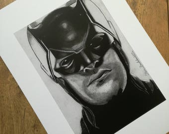 Daredevil pencil drawing - high quality print