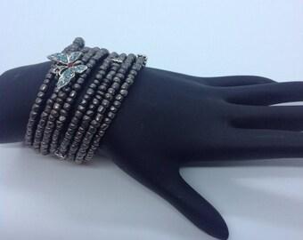 Butterfly Multi-wrap Bracelet