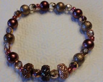 Tri-color sparkle bracelet