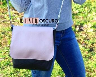 Eco-leather bag with shoulder strap
