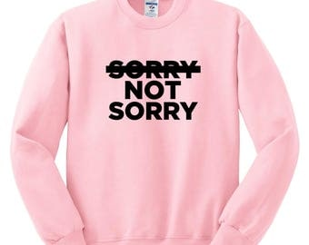 Demi Lovato / Sorry Not Sorry Crew Neck Sweatshirt
