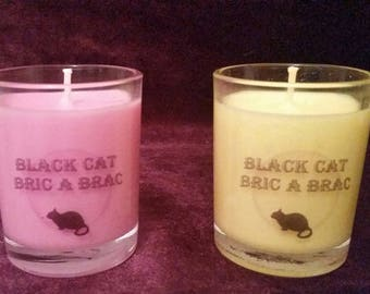 Pagan / Wiccan Scented / Unscented Ritual / Altar Spell & God Goddess Candles All Natural Soy / Cotton Wick Pink Yellow