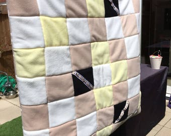 Fleece Patchwork Dog Quilt