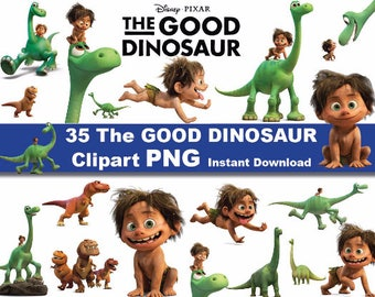 INSTANT DL- 35x The Good Dinosaur clipart png - printable Digital Clipart Graphic Instant Download