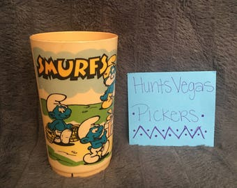 1980 Smurfs Plastic Cup