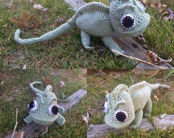 Pascal inspired chameleon plush