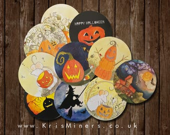 Whimsical Halloween Stickers - 10 Pack