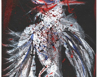 Dead Dove - Print of Acrylic Painting - Wall Art