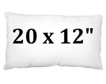 "20x12"" Luxury Cushion Inner Scatter Cushion White Virgin Hollowfibre"