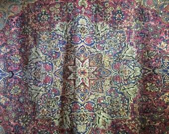 Persian rug, Kerman Ravar Antique, vegetable color Size: 280 * 380 Cm