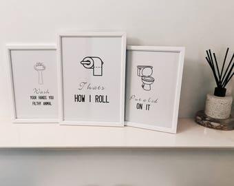 Bathroom Wall Art Print