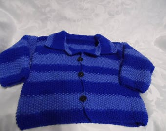 Striped in two colors blue jacket size 4t