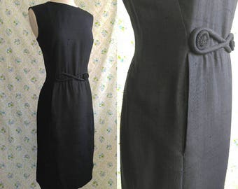 1950s Blauner black sheath dress with Florence Lustig jacket