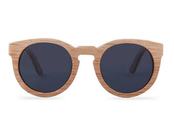 Wooden sunglasses - The Woodpecker Butterfly - Black glasses