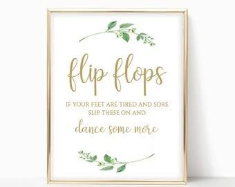 Printable Flip Flops Printable Flip Flops Sign Dancing Shoes Printable Dancing Shoes Sign Printables Instant Download 4x6,5x7,8x10 Jasmine