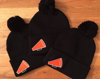 CHEER/DANCER/GYMNAST beanie in team/school/studio/favorite colors (Any color & style from any of my other listings available!!)