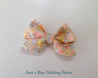 Peachy Keen Floral Bow JABMB