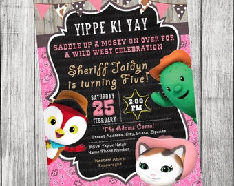 Sheriff Callie/Toby and Peck Invitation