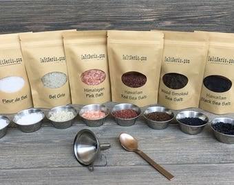 5 Essential Gourmet Salts • Salt Sampler Gift Set from Around the World • Food Gift • SaltNerds Best Selling Item • Foodie Gift • Chef Gift