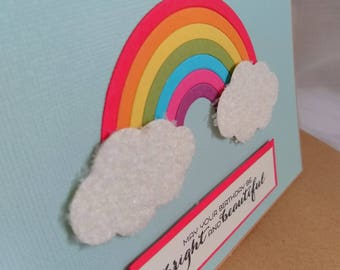 Stampin' Up! A6 Landscape Rainbow Birthday Card