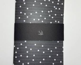 Black and White Stars Traveler's Notebook Insert