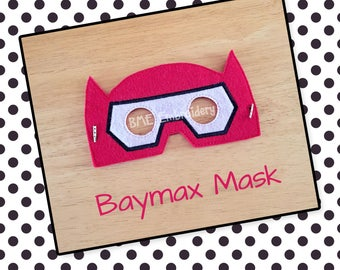 Baymax Inspired Felt Mask- Child's Dress Up and Imaginary Play- Birthday Party Favor-Photo Shoot-Pretend Play-Theme Party-Big Hero Mask