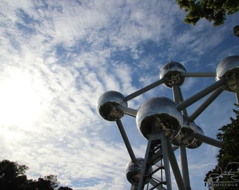 Atomium (3/3) -  Brussels, Belgium, World's Fair, Art, Color and BW Photography & Home Decor, Wall Art, Prints, Architecture, Matted Photo