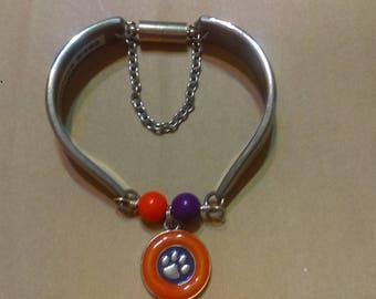 Clemson Spoon Bracelet
