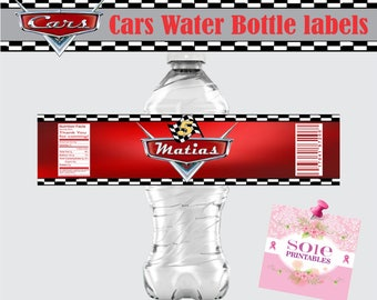 Cars Water Bottle Labels!