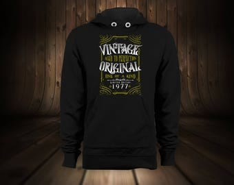 Custom Birthday Vintage Hoodie Pullover Black Grey Red Blue Create Your Own Anniversary