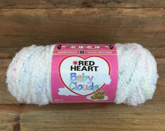Red Heart Baby Clouds Super Bulky White Swirl Yarn