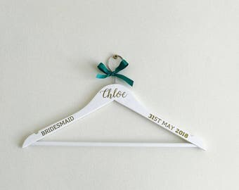 3 for 10 Personalised Wedding Hanger, Wedding Dress Hanger, Bridal Hanger, Bridesmaid Gift, Wedding Gift, Personalised Hanger, Bride Hanger