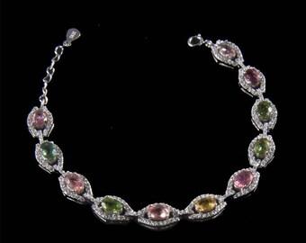 "Classic Bracelet with tourmalines ""Nem"""