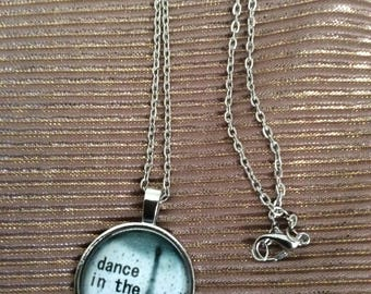 eiffel tower dance in the rain cabochon necklace