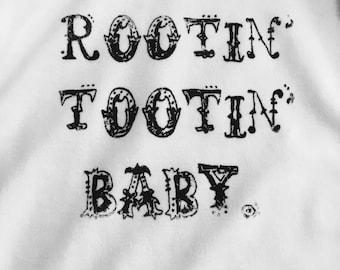 Rootin' Tootin' Baby-Cute, Original, Baby Clothes, Bodysuit