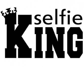 Selfie King New Shirt Various Sizes and Colors Available
