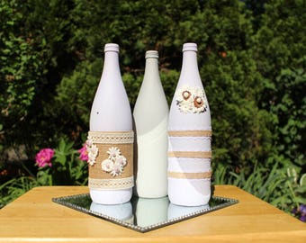 Lavender wine bottle decor - Save 25% off - 1 WEEK SALE starts August 8th 2017 - August 15th 2017